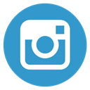round, social media, Instagram SteelBlue icon