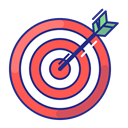 Arrow, Aim, strategy, Purpose, Target, bullseye Black icon