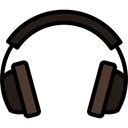 sound, volume, Audio, music player, technology, earphones Black icon