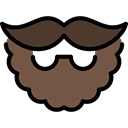 Man, hipster, fashion, Masculine, Facial Hair, Accesory DarkOliveGreen icon