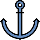 tool, navigation, sailing, navy Black icon