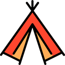 Camp, indian, Camping, Tent Black icon