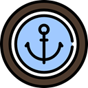 Anchor, buttons, tool LightSkyBlue icon