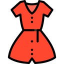 clothing, Women, summer, fashion Tomato icon
