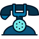 telephone, technology, phone receiver, phones, phone call, Telephones Black icon