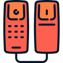 phone receiver, phones, phone call, Telephone Call, telephone, technology Tomato icon