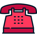 telephone, technology, phone receiver, phones, phone call, Telephones Tomato icon