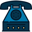 office, telephone, technology, phone receiver, phones, phone call, Telephones MidnightBlue icon