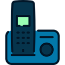 Telephones, telephone, technology, phone receiver, Communication, phones, phone call MidnightBlue icon