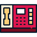 phone, technology, phone receiver, Communication, phones, phone call, Telephones Crimson icon