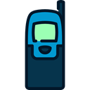 Communication, phones, phone call, Telephones, telephone, mobile phone, technology Black icon