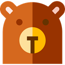 zoo, Animals, mammal, wildlife, Animal Kingdom, bear SaddleBrown icon