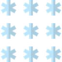 Cold, snowflake, snowing, weather, Snow, nature, winter Black icon