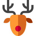 Animal, christmas, winter, Animals, deer, reindeer, mammal Black icon