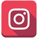 square, Shadow, social media, Instagram, instagram new design IndianRed icon