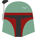 boba, fett DarkSeaGreen icon