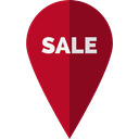 interface, pin, sale, placeholder, signs, map pointer, Map Location, Map Point, Maps And Location Black icon