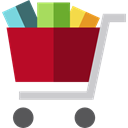commerce, shopping cart, Supermarket, online store, Shopping Store, Commerce And Shopping Black icon