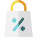 shopping, Bag, shopping bag, Supermarket, Shopper, Commerce And Shopping, Business, commerce WhiteSmoke icon