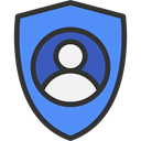 user, interface, person, google, social media, figure, ui, Account CornflowerBlue icon