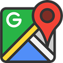 google, Gps, location, Direction, Maps, directional, Maps And Flags, Maps And Location, Orientation, Brands And Logotypes DarkSlateGray icon