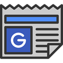 Journal, News, interface, Newspaper, google, social media, Communications, News Report Icon