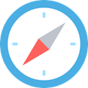 compass, Orientation, location, Direction, Tools And Utensils, Cardinal Points, Maps And Location CornflowerBlue icon