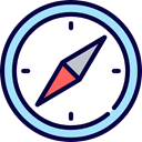 Direction, Tools And Utensils, Cardinal Points, Maps And Location, compass, Orientation, location MidnightBlue icon