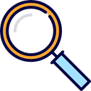 Tools And Utensils, Seo And Web, search, magnifying glass, zoom, detective, Loupe Black icon