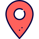 Map Point, Maps And Location, placeholder, signs, map pointer, Map Location, interface, pin Tomato icon