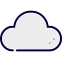 Cloud, weather, Cloudy, ui, sky, Cloud computing WhiteSmoke icon