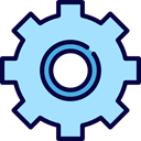 Gear, settings, configuration, ui, cogwheel, Tools And Utensils PaleTurquoise icon