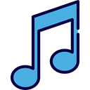 musical note, Quaver, Music And Multimedia, music, interface, music player, song Black icon