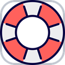 security, help, support, lifeguard, lifebuoy, Floating, Lifesaver Tomato icon