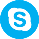Circle, Messaging, round icon, Message, Skype, Messenger DeepSkyBlue icon