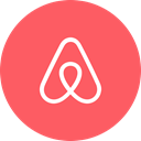 Circle, travel, Airbnb, round icon Tomato icon