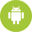 round icon, Os, Android, Operating system, Circle YellowGreen icon