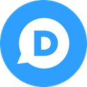 round icon, Comment, Circle, Disqus DodgerBlue icon