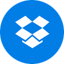 Cloud storage, round icon, dropbox, Cloud, Circle DodgerBlue icon