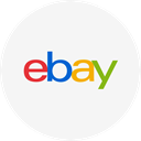 shopping, ecommerce, Ebay, round icon, Circle WhiteSmoke icon