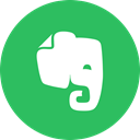 Circle, Evernote, round icon, Notes MediumSeaGreen icon