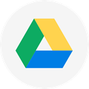 Cloud, Circle, google, google drive, Cloud storage, round icon, drive WhiteSmoke icon