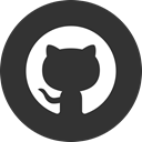 Circle, Github, round icon DarkSlateGray icon