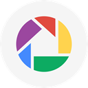 Picasa, round icon, photos, Circle WhiteSmoke icon