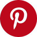 round icon, social media, social network, pinterest, Circle Firebrick icon