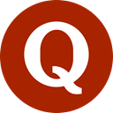 Circle, Quora, round icon, forum Firebrick icon