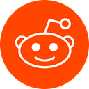 Circle, Reddit, round icon OrangeRed icon