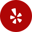 Circle, Yelp, round icon DarkRed icon