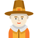 Man, hat, user, pilgrim, Avatar, vintage, Costume, thanksgiving Black icon
