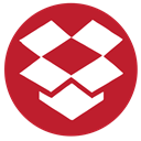 Rs, Social, media, dropbox Firebrick icon